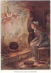 Oliver Herford illustrated the fairy godmother...