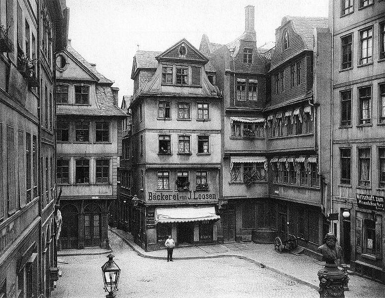 Das alte Frankfurt  Ansichten Postkarten Bildvergleiche