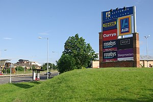 Kettering Retail Park American-style retail pa...