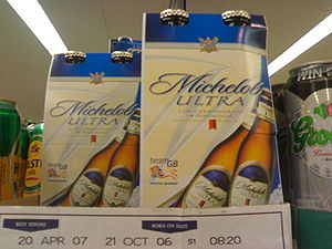 Michelob ULTRA in a supermarket.