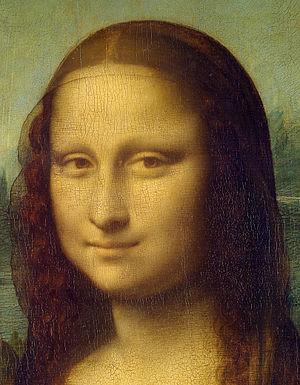 Mona Lisa detail face