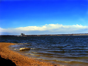 English: A look over Lake Arlington.