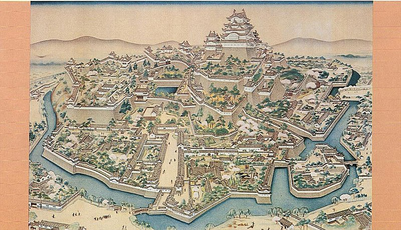 File:Old painting of Himeji castle.jpg