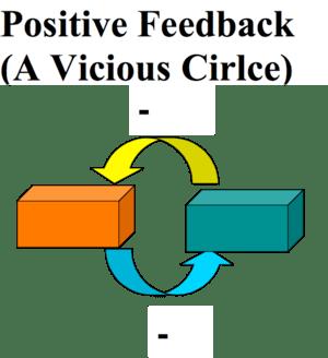 Positive feedback loop, vicious circle