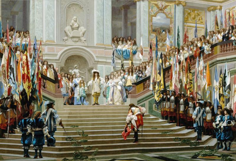 File:Réception du Grand Condé à Versailles (Jean-Léon Gérôme, 1878).png