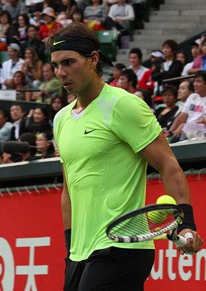 Español: Rafael Nadal, en el torneo ATP de Tok...