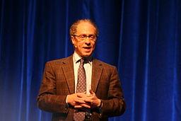 Ray Kurzweil blue background