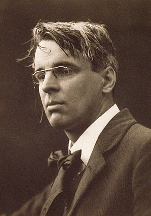 English: William Butler Yeats, sepia-toned pla...