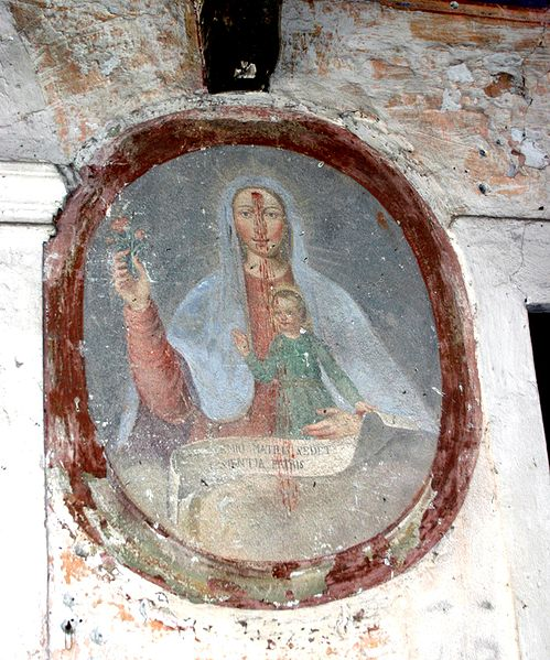 File:8046 - Verbania-Suna - Opera Pia Rossi - Madonna di Re - Affresco in cortile - Foto Giovanni Dall'Orto, 8-Apr-2007.jpg