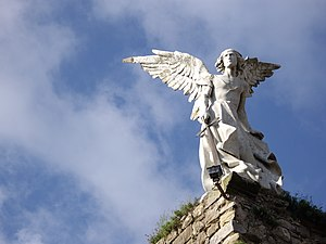 Guardian Angel, sculpture by Josep Llimona. Mo...