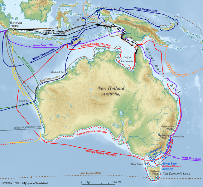 File:Australia discoveries by Europeans before 1813 en.png