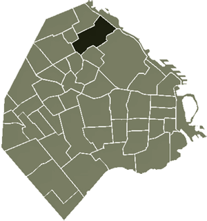 Location of Belgrano within Buenos Aires