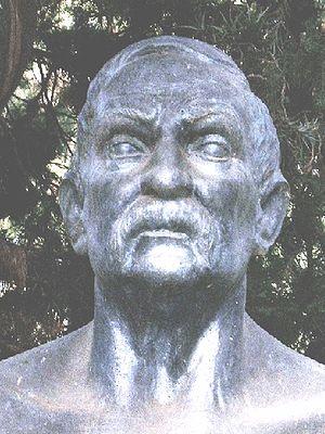A bust of Benito Pérez Galdós by Erminio Blott...