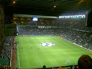 Champions League 2007-08 match between Celtic ...