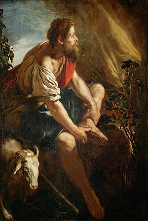 Moses at the Burning Bush, 1615, by Domenico F...