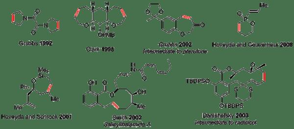 Ring closing metathesis reaction catalysts