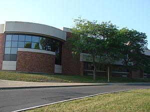 A view of Fayetteville Manlius High School. Th...