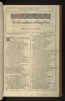 King John Play Wikipedia