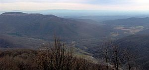 Petros, Tennessee, looking south from the summ...