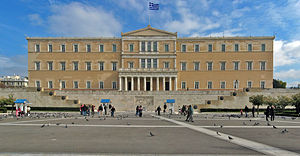 The greece parliament in Athen.