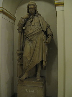 Statue of Johann Sebastian Bach at Musikverein.