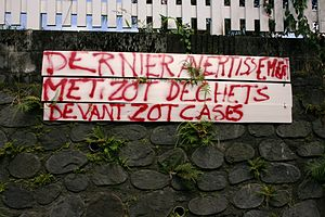 Français : Message en créole réunionnais à Sai...