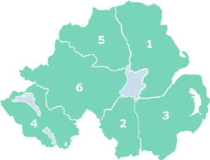 Couties of Northern Ireland (numbered)