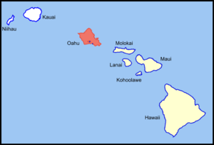 Oahu Island location