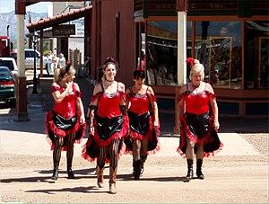 Saloon ladies on Allen Street in Tombstone, AZ.