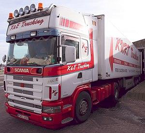 Scania 164 L 480 K & E trucking.