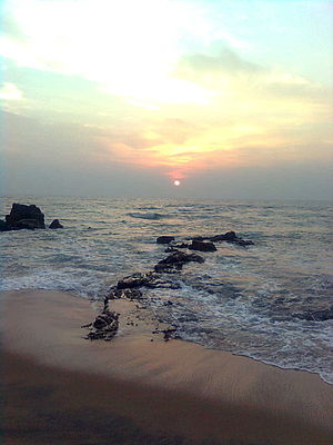 Sunrise over the bay of bengal at Vizag