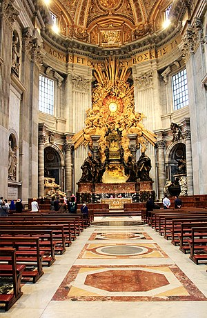 English: Interior of St. Peter's Basilica in V...