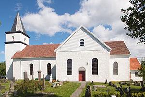 Kirchen Vanse , Norwegen Deutsch: Die Kirche v...