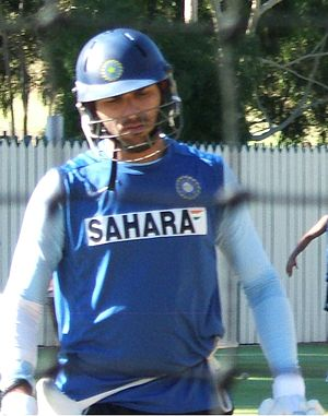 Yuvraj Singh batting at Adelaide Oval