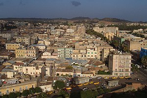 English: Asmara, Eritrea.