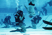 BUD/S trainees in Diving Phase.