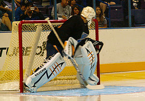 English: Ben Bishop at the 2008 Blues FanFest.