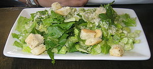 "Caesar salad. At ""Ruby Slipper"" Rest..."