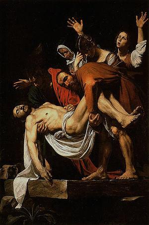Italiano: La Deposizione di Cristo.