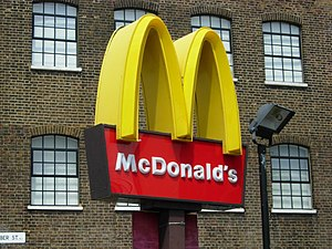 City Road McDonalds The famous golden arches b...