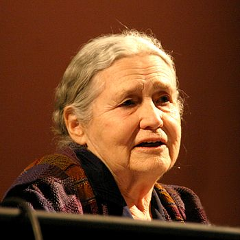 Doris Lessing, British writer, at lit.cologne,...