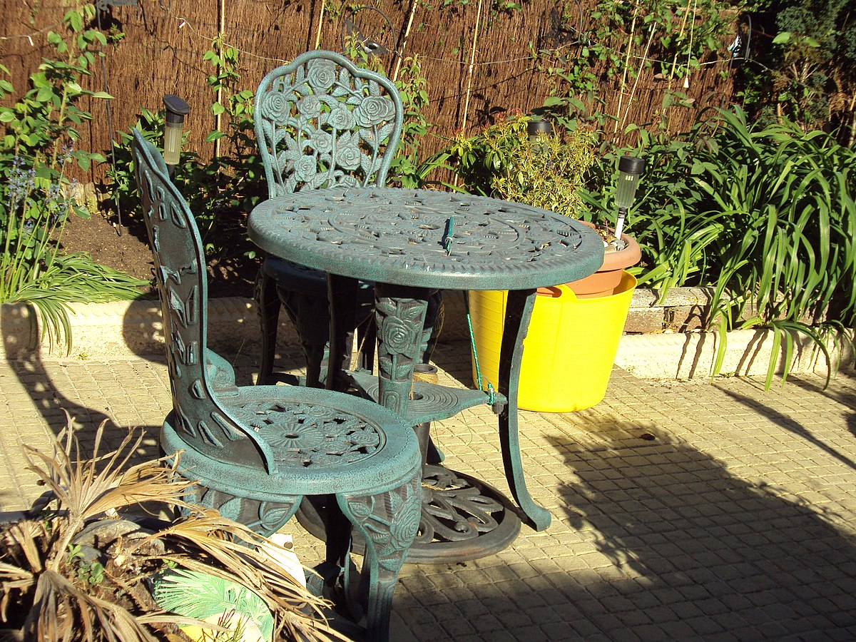 Outside Tables And Chairs Garden Furniture Wikipedia