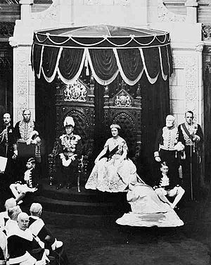H.M. King George VI and Queen Elizabeth in the...