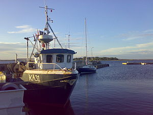 Fisherboat from Karlskrona at Hasslö, Sweden.