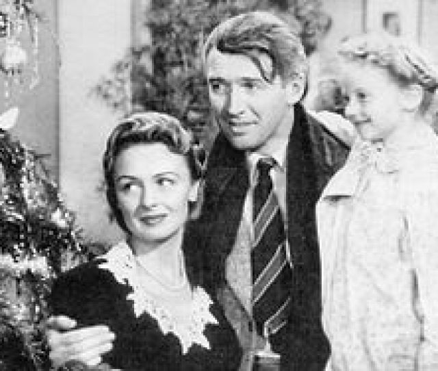 George Bailey James Stewart Mary Bailey Donna Reed And Their Youngest Daughter Zuzu Karolyn Grimes