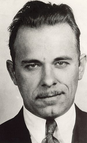 Mug shot of John Dillinger