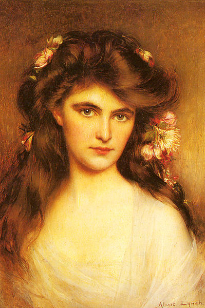 File:Lynch Albert A Young Beauty With Flowers In Her Hair.jpg