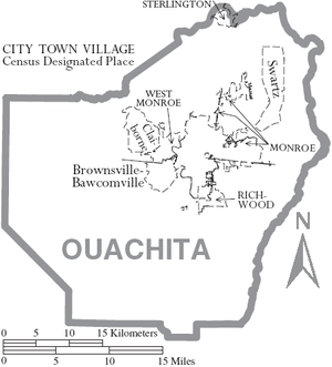 Ouachita Parish, Louisiana : Map (The Full Wiki)