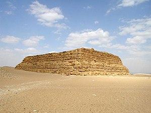 Coin nord-ouest du mastaba Faraoun à Saqqarah