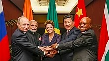 BRICS leaders at the G-20 summit in Brisbane, Australia, 15 November 2014